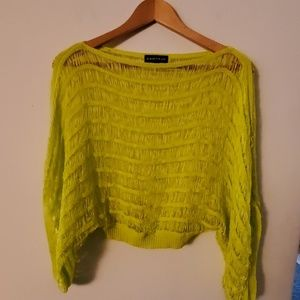 Rampage Green Sheer Cover Up - S